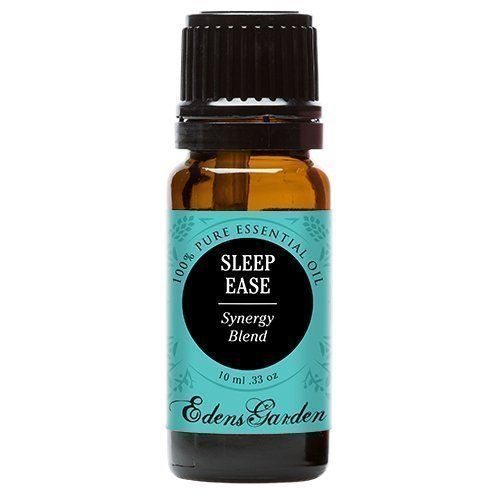 Sleep Ease Synergy Blend Essential Oil by Edens Garden 10 ml (1/3 oz) (Chamomile, Coriander, Geranium, Jasmine, Lavender, Lemon, Rose, Rosewood, Palmarosa and Ylang Ylang)