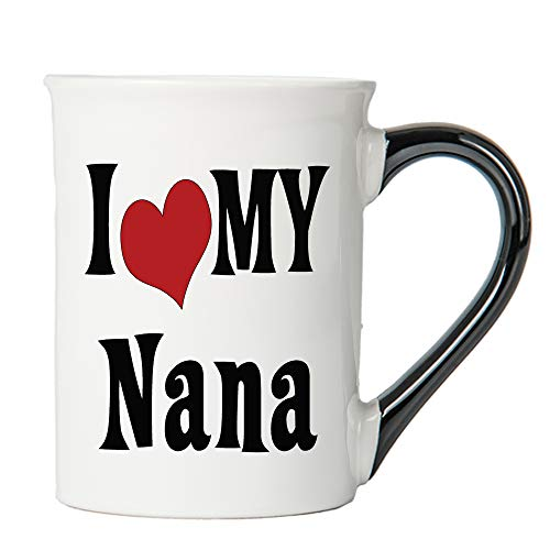 I Love My Nana Coffee Mug, Ceramic Nana Coffee Cup, Nana Gifts By Tumbleweed (Ceramic Tumbleweed Pottery)
