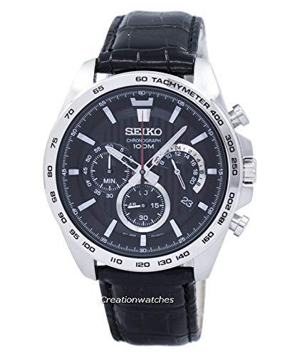 Seiko Chronograph Black Dial Mens Watch SSB305P1