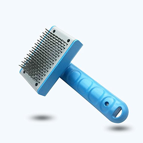 KBWL Stainless Steel Pet Comb Dog Grooming Tool Open Knot Comb for Dog Cat Hair Clean Needle Comb Push Hair Remove Dog Brush Universal pet Comb Blue