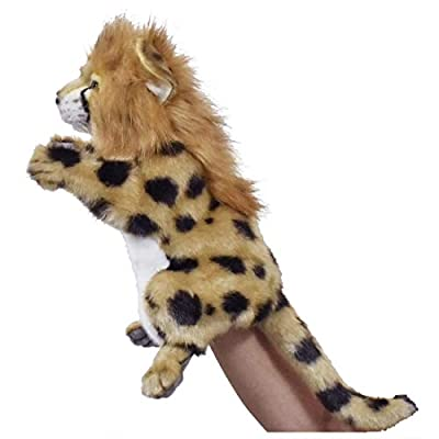 Hansa Cheetah Hand Puppet Soft Plush Toy 12