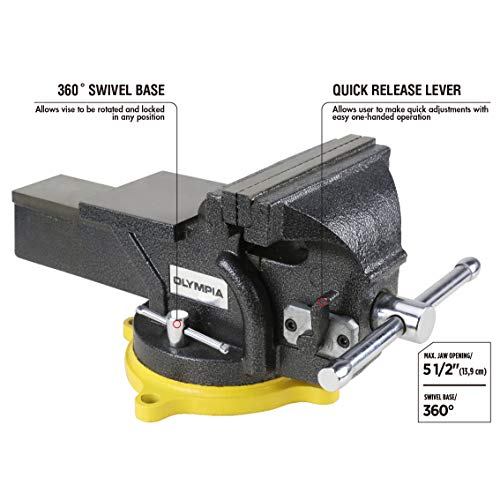 Olympia Tools 38-647 6in One-Hand Operation Quick Release Bench Vise