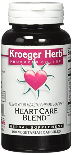Kroeger Herb Heart Care Blend Vegetarian Capsules, 100 Count