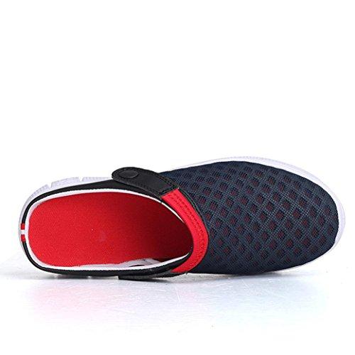 Beach Herren Dark Breathable Männer Schuhe Flip Frauen Slipper LHWY Padded Flops Blue Sandale Mesh Sommer xqwOT5zT