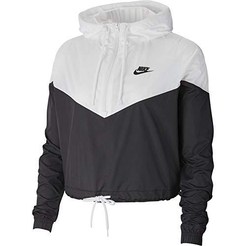 Nike Womens Heritage Windrunner Track Jacket Black/White AR2511-010 Size X-Small by Nike (Image #2)