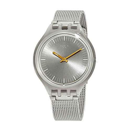 Swatch Skinmesh Silver Dail Stainless Steel Ladies Watch SVOM100M