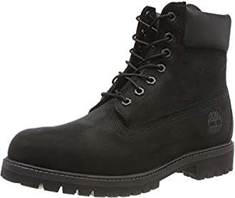 Timberland 6-Inch Premium Boot, Botas para Hombre, Negro (Black Nubuck), 44.5 EU