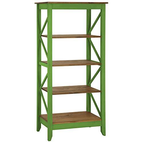 Manhattan Comfort Jay Collection Modern Accent 4 Shelf Open Tier Pattern Wooden Bookcase, -