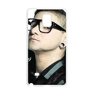 Samsung Galaxy Note 4 Cell Phone Case White Skrillex Back Unique Phone Case Cover CZOIEQWMXN24658