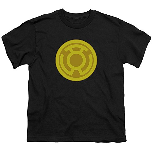 (Green Lantern Yellow Symbol Unisex Youth T Shirt for Boys and Girls, X-Large)