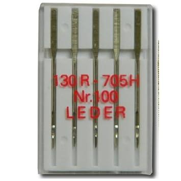 Prym 5 Leder Nähmaschinennadeln Flachkolben Sortiment 154450