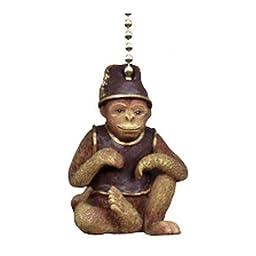 Tiki Tropical Monkey Ceiling Fan Light Pull Chain