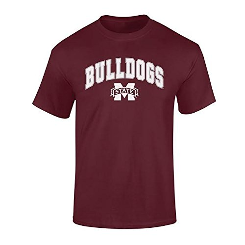 Elite Fan Shop NCAA Men's Mississippi State Bulldogs T Shirt Team Color Arch Mississippi State Bulldogs Maroon XX Large