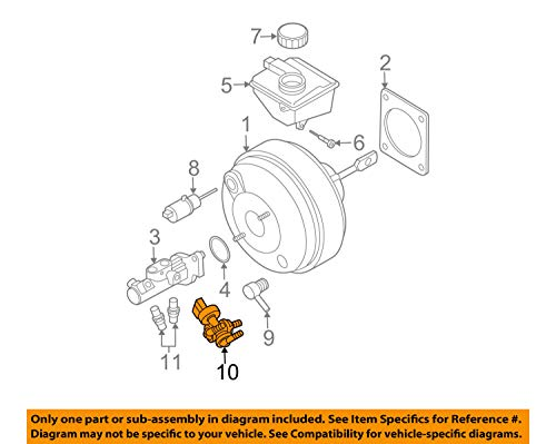 - Genuine Volvo Brake Vacuum Switch XC90 See List for Fit NEW OEM p/n 31400608
