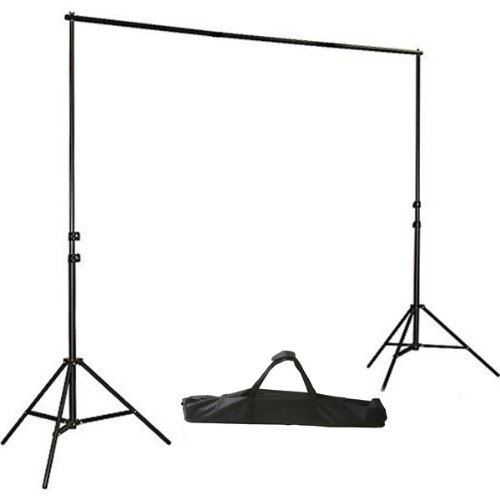 ePhoto H804B Adjustable Background Backdrop Support Stands Photography Backdrop Crossbar Frame Kit