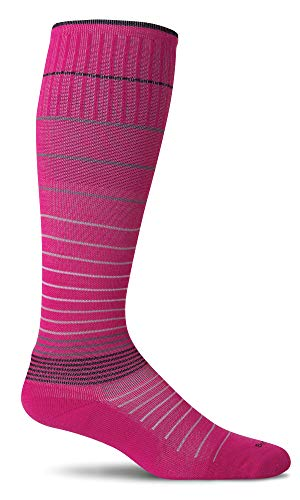Sockwell Women's Circulator 15-20 mmHg Compression Socks (Azalea Stripe, -