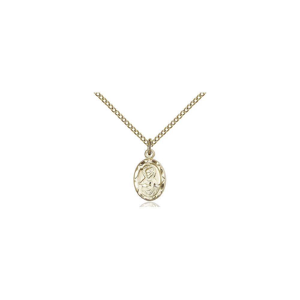 DiamondJewelryNY 14kt Gold Filled Scapular Pendant