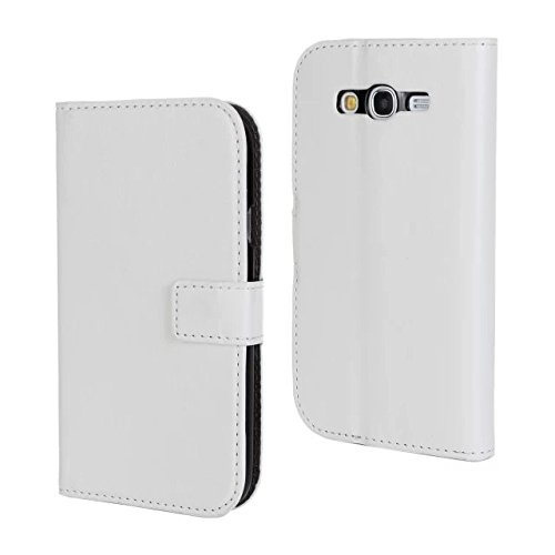 MOONCASE Flip Leather Wallet Card Pouch Stand Back Case Cover For Samsung Galaxy Grand Duos I9080 / Neo (I9060) White