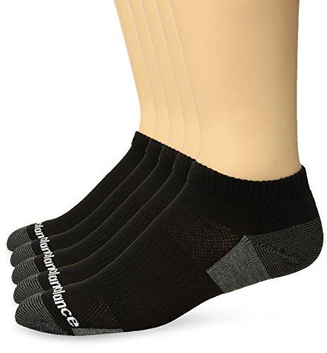 New Balance Performance Training Low Cut Socks (6 Pair), Black/Grey, X-Large