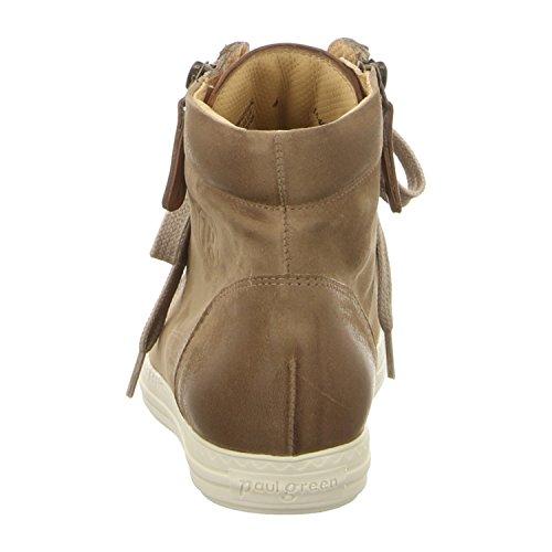 Paul Green 1230 311 - Zapatillas de Piel Lisa para mujer Beige