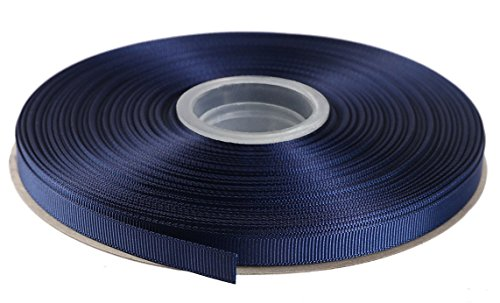 Duoqu 1/2 Inch Wide Grosgrain Ribbon 50 Yards Roll Multiple Colors (Navy)