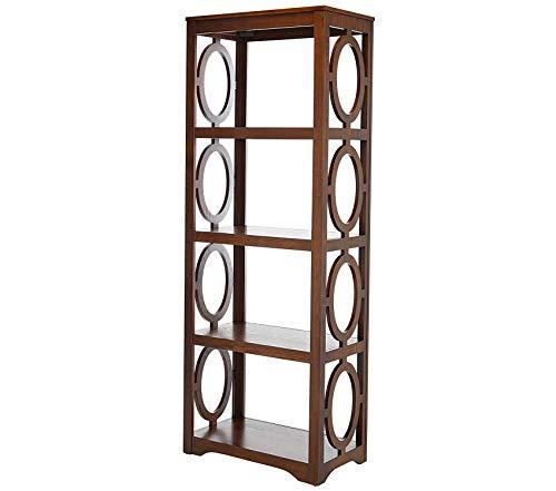 Wood & Style Office Home Furniture Premium Enedina 4-Shelf Open Bookcase Chestnut