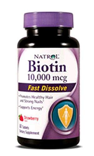 Natrol Биотин Быстрый растворить таблетку, 10000 мкг, 60 граф