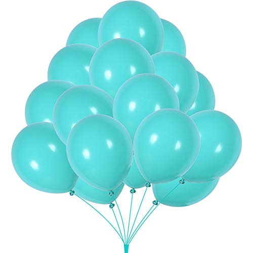 Sea Foam Aqua Blue Latex Balloons Globos Seafoam Balloon Party Birthday Wedding Balloons Pack of ()