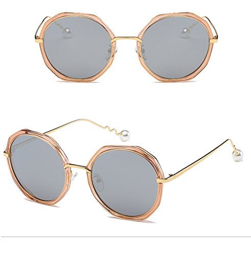 pearl spiral personality mirror trend polarized sunglasses irregular circular sunglasses for men and women,C12 tea box mercury tablets