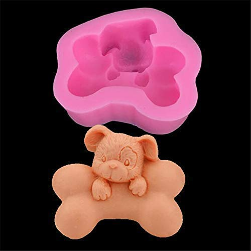 (3D Dog bone shaped Silicone Soap Mould, Lines Cylinder Shape DIY Candle Making Mold,Homemade Fondant Cake Bakeware Tray Sugarcraft Chocolate Cupcake Muffin Baking Mold Kitchen DIY Decorating Tool )
