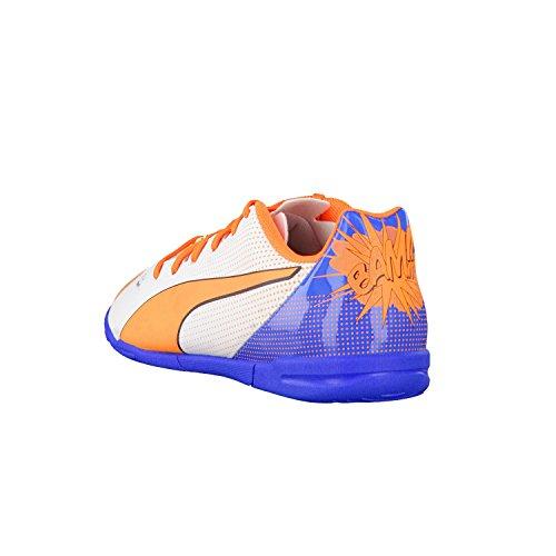 Puma - Zapatillas de fútbol de material sintético para hombre white-orange clown fish-electric blue lemonade 01