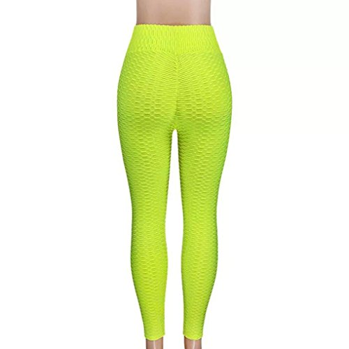 Longay Women Green Workout Leggings Push up Compression Tights Yoga Pants