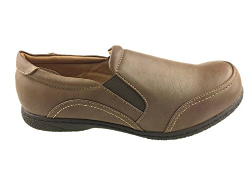 ROHDE LADIES SLIP ON FLAT SOFT WALKING COMFORT SHOES GRIP SOLE BROWN SIZE 3-7 NEW