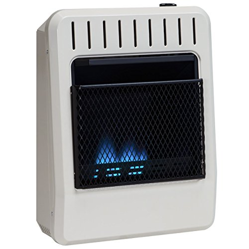 Avenger Dual Fuel Vent Free Blue Flame Wall Heater, Thermostat - 10,000 BTU, Model# FDT10BF (Gas Wall Heater Ventless)