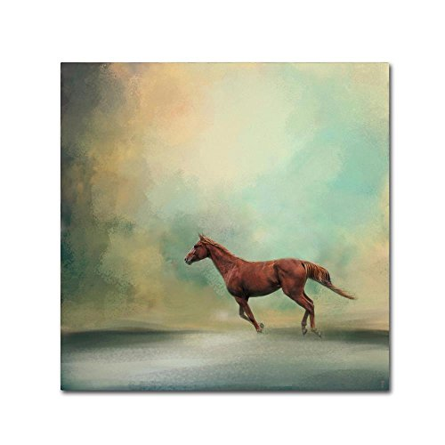 Trademark Fine Art Arabian Run by Jai Johnson, 35x35-Inch Canvas Wall Art by Trademark Fine Art