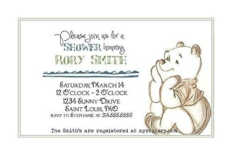 55070d10eaec Amazon.com  Customized Classic Winnie The Pooh Baby Shower ...