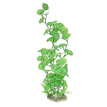 Jardin de plástico acuario Redondo hoja del Loto hojas en Forma de plantas de decoración,