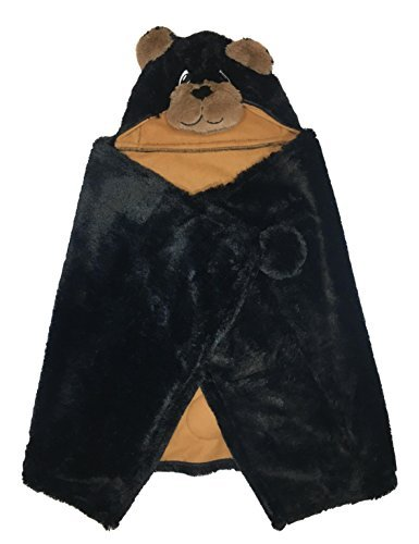 Bear Hooded Throw Blanket for Kids - 27in x 52in - Super Soft Material – Brown - Blanket Bear Travel