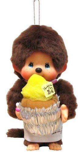 Bakery Shop Monchhichi Mont Blanc Keychain Plush Doll