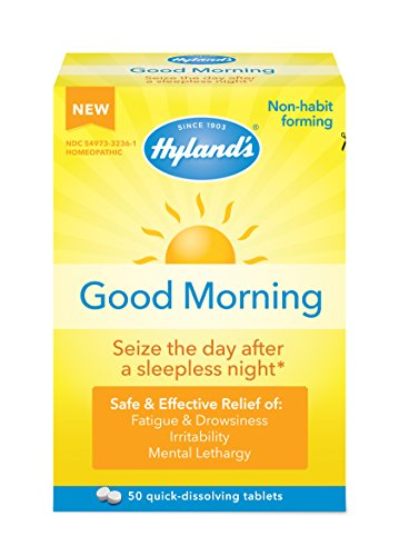 Hyland's Good Morning Tablets, Natural Relief of Fatigue, Irritability and Mental Lethargy, 50 Count ()