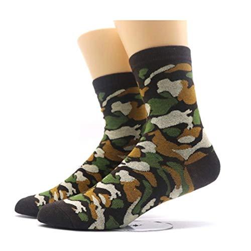 Fun Dress Socks (Green Camo) (Camo Quarter Socks)