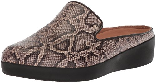 FitFlop Women Superskate Slip-on Mule Sneaker Taupe Snake