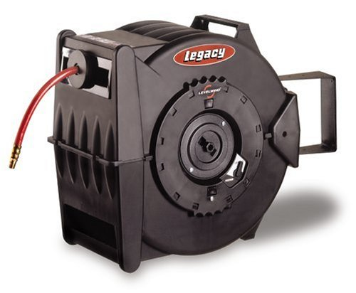 Legacy Levelwind Retractable Air Hose Reel, 3/8 in. x 75 ft,