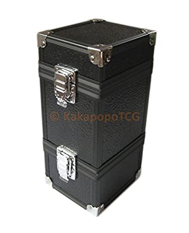 KM-T01 Monolith Black Stackable Metal Double Deck Box or Dice Box Storage Trading Cards TCG Ultra Pro Sleeve MTG Magic the Gathering Pokemon YGO Yugioh EDH Commander Force of - Double Deck Card Box