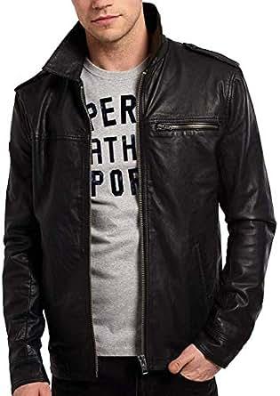 Azrah 100% Leather Jacket for Men - Designer Slim Fit