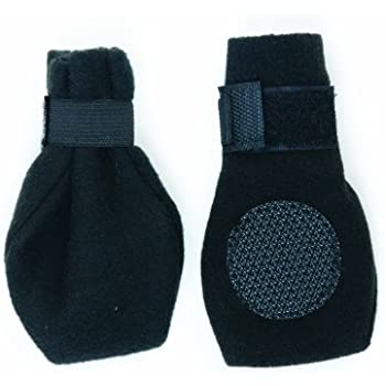 Fashion Pet Lookin Good Arctic Fleece Boots for Dogs, X-Large, Black