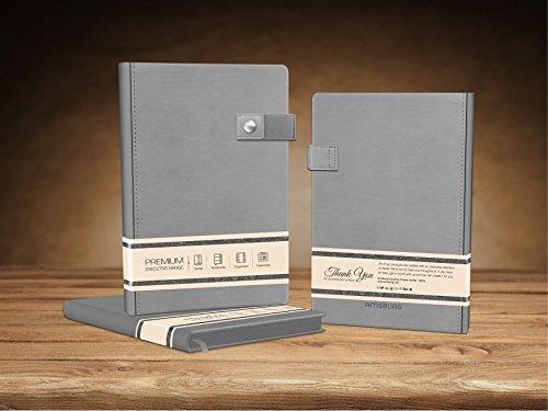 Executive Desk Calendar Box - Premium Journal Executive Elastic Button Lock - Flint Grey Note Book