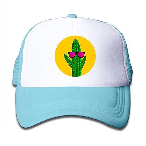 Kkidj Ooii Mesh Baseball Caps Boy&Girl Youth Snapback Hats Cactus - Glass Sun Hutt