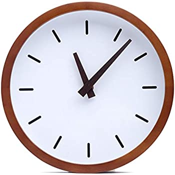 Amazon.com: Driini Modern Wood Analog Wall Clock (9