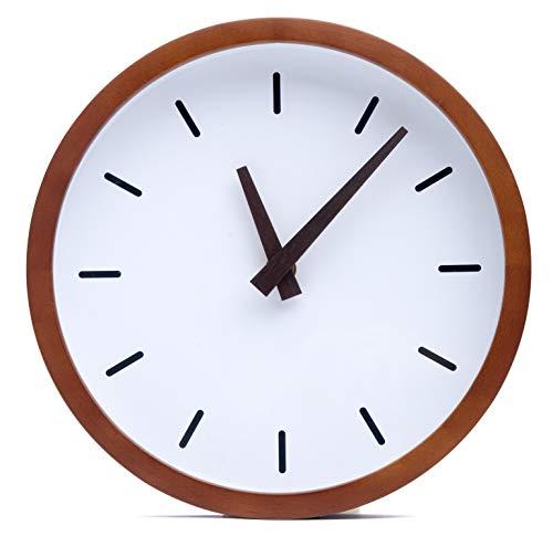 Driini Modern Wood Analog Wall Clock (12